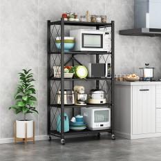 [BẢO HÀNH 12 THÁNG] Kệ sắt để đồ gấp gọn có bánh xe, kệ gia dụng đa năng để phòng khách – phòng bếp