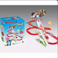 Bộ đồ chơi thú Leo Cầu Thang cho bé – Đồ chơi Tàu Lượn leo cầu thang – Đồ chơi đường đua tàu lượn