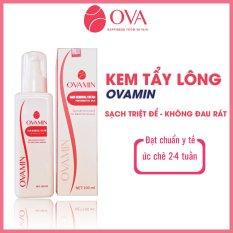 Kem tẩy lông Body OvaMin triệt lông nách, chân, tay, bikini, vùng kín an toàn và hiệu quả, giữ ẩm, giảm thâm cho da dung tích 100ml