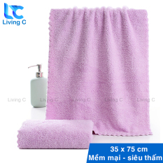 Khăn lau mặt siêu mềm Living C KSM khăn tắm đa năng mềm mại siêu thấm nước, chất vải dày, không ra lông, chất liệu an toàn cho da