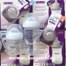 Bình sữa chống đầy hơi Avent Natural 260ml & 125ml