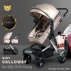 XE ĐẨY CALLOWAY thương hiệu BABY TATTOO khung che chắn chắn – Xe đẩy 2 chiều – Thiết kế Sang trọng – Thời trang