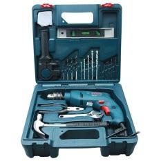 Máy khoan động lực Bosch GSB 550 kèm hộp phụ kiện 19 chi tiết (Tặng áo thun Bosch)