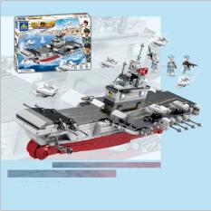 Bộ lắp ráp kiểu lego Kazi mô hình tàu sân bay 84082