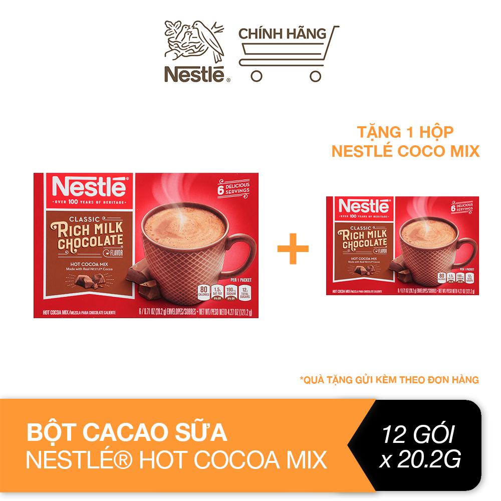 [Mua 1 tặng 1] Bột cacao sữa Nestlé® Hot Cocoa Mix® hộp giấy 6×20,2g