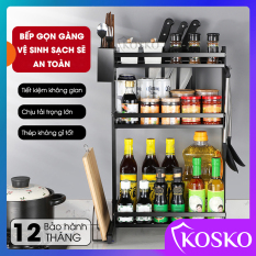 Kệ nhà bếp đa năng Kosko inox 304 kệ gia vị inox sơn tĩnh điện (Bảo hành 12 tháng – 1 đổi 1 trong 7 ngày), kệ để đồ, kệ đựng gia vị 2 tầng, kệ đựng gia vị 3 tầng