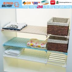 【Trong 24h gửi hàng】Thanh Kệ chia ngăn tủ phân tầng góc tường không cần khoan vít chịu lực 10kg rộng 36cm (dài 28-38cm)