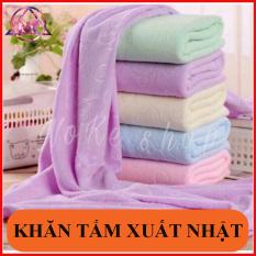 Khăn tắm xuất nhật cao cấp, mền, mịn, thấm nước tốt ( kích thước 140cm*70cm ) giao nhiều màu khác nhau