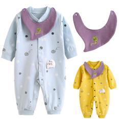 Áo liền quần cho bé sơ sinh chất liệu cotton xịn thoáng mát 111
