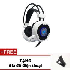Tai nghe gaming Wangming WM8900 (trắng)