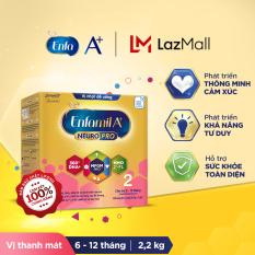Sữa bột Enfamil A+ Neuropro 2 Vị thanh mát với dưỡng chất DHA & MFGM cho trẻ từ 6-12 tháng tuổi – 2.2kg