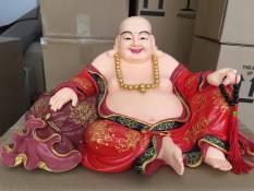 Tượng Phật di lặc tam tài cao 21cm ngang 35cm