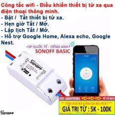 Công tắc thông minh Sonoff Basic (Quốc Tế – Tiếng Anh), điều khiển từ xa qua WIFI, 3G, 4G