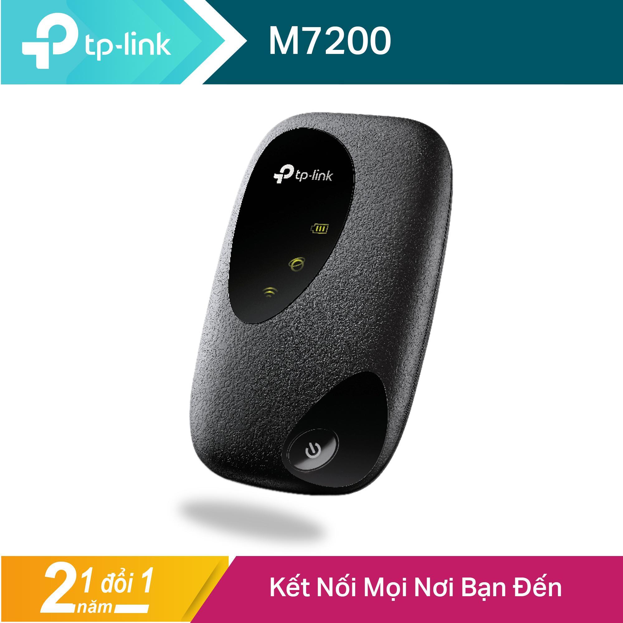 TP-Link Bộ phát wifi di động 4G LTE (Thiết bị phát wifi) Cho kết nối Wifi mọi nơi M7200 -...
