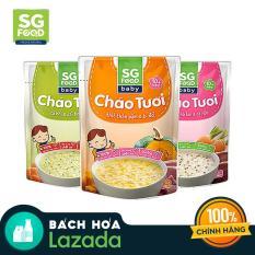 Combo 3 gói cháo tươi trẻ em Sài Gòn Food 240g (vị thịt thăn, cá hồi và bò)