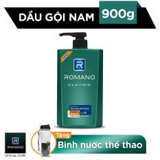 [Tặng Bình Nước Thể Thao] Dầu Gội Cao Cấp Dành Cho Nam Romano Classic 900g