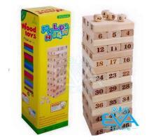 Bộ Trò Chơi Rút Gỗ Wood Toys 48 Thanh Loại Thanh Lớn