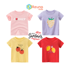 Áo thun bé gái 27Home áo cộc cho bé in hình trái cây cute chất cotton hàng nhập khẩu
