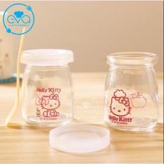Bộ 12 Hũ Thuỷ Tinh Đựng Sữa Chua In Hình Cute 100 Ml