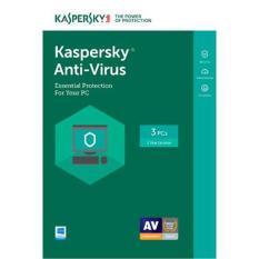 Phần mềm diệt virus Kaspersky Antivirus 3 User/1 năm