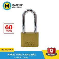 Ổ Khóa Càng Dài Chìa Sắt MAXPRO Vàng 60mm – M02SD60