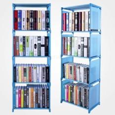 Kệ Để Sách 5 Tầng 4 Ngăn, Giá Để Sách Tiện Lợi Lắp Ghép Dễ Dàng Kiểu Dáng Thông Minh Gọn Nhẹ JJ0312