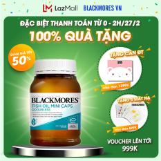 Blackmores Odourless Fish Oil 1000 Mini Capsules 400v – Dầu cá KHỬ MÙI tự nhiên Blackmore Úc, bổ sung omega 3