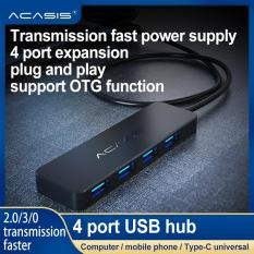 ACASIS 3.0 / 2.0 USB hub 4 cổng, ACASIS USB hub, 4 tốc độ cao, bộ mở rộng trung tâm USB, bộ chia USB, Giao diện nguồn cho PC, Ultrabook máy tính xách tay, Laptop-quốc tế
