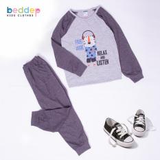 Đồ bộ mặc nhà Beddep Kids Clothes chất thun in hình cho bé trai từ 1 đến 8 tuổi B17