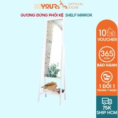 Gương Soi Toàn Thân BEYOURs Khung Gỗ Phối Kệ – Shelf-Mirror – Nội Thất Phòng Khách, Phòng Ngủ