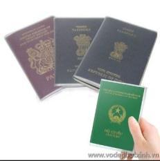 Combo 5 bọc hộ chiếu nhựa dẻo, trong suốt,chống Quăn chống nước tuyệt đối