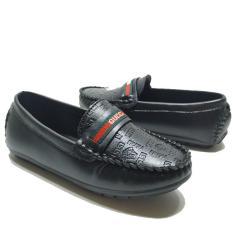 Giày cho bé trai giày lười đen-nâu-trắng từ 2 đến 10 tuổi