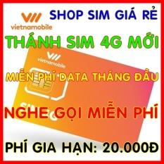 Sim 4G Vietnamobile Miễn phí DATA không giới hạn + Nghe Gọi Và Nhắn Tin Nội Mạng Miễn Phí – Phí gia hạn 20.000đ- Shop Sim Giá Rẻ