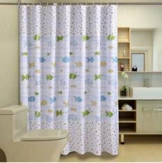 Rèm Phòng Tắm / Rèm Cửa Sổ Họa Tiết Đại Dương 180cm X 180cm Loại 1
