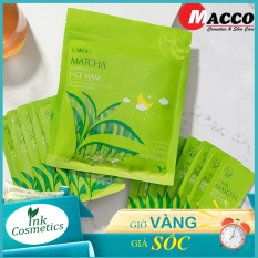 [ bịch 15 miếng ] Mặt Nạ Trà Xanh Matcha Mud Mask Laikou Ngừa mụn, Dưỡng ẩm sâu, Ngăn ngừa lão hóa da và nám tàn nhang.