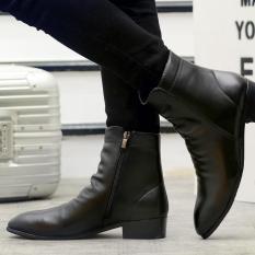 Giày bốt chelsea da bóng nam phong cách công sở