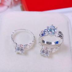 Nhẫn vàng nữ, nhẫn kim tiền bạc đính đá pha lê xinh đẹp sáng lấp lánh thời trang đeo may mắn bình an hạnh phúc Gado N010 chạm khắc hoa văn tinh tế sang trọng thiết kế thời trang
