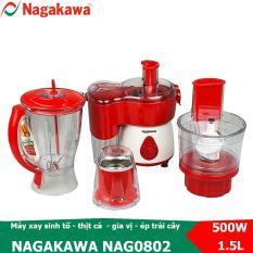 Máy xay ép đa năng Nagakawa NAG0802 công suất 500W