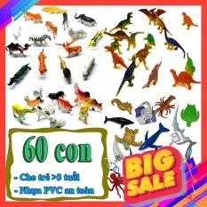 Mô hình đồ chơi thế giới động vật 60 chi tiết Animal Dinosaur Sea World nhựa PVC an toàn – New4all cho bé học hỏi và khám phá về động vật, khủng long, chó cứu hộ, pokemon kích thước 3cm