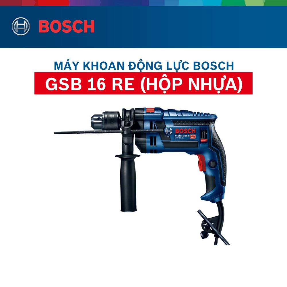 Máy khoan động lực cầm tay Bosch GSB 16 RE (Hộp nhựa)