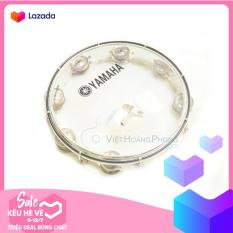 Trống lắc tay – trống gõ bo – Tambourine Yamaha MT6-102T (Trắng trong) – HappyLive Shop