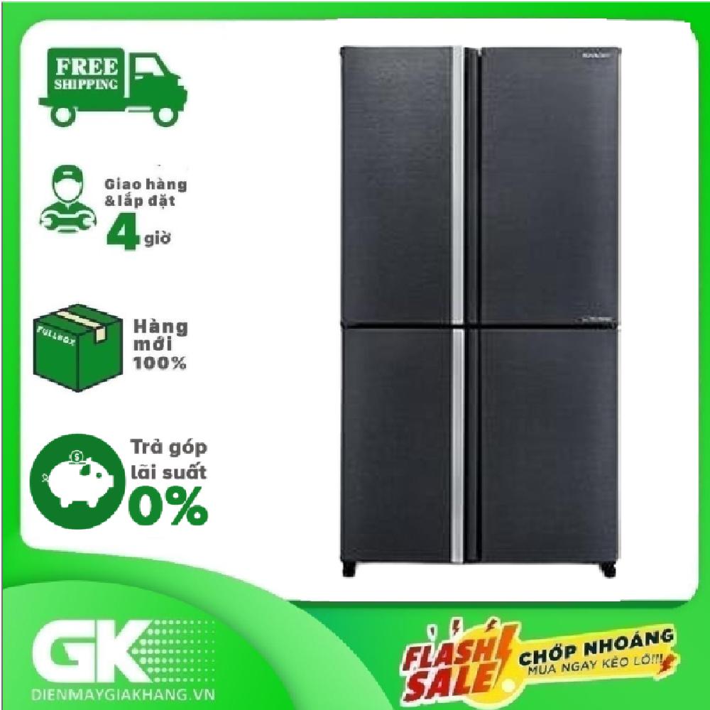 [GIAO HÀNG 2 – 15 NGÀY, TRỄ NHẤT 30.08] Tủ lạnh Sharp Inverter 525 lít SJ-FX600V-SL mới 2021