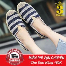 [Giá Sốc⚡]Giày Lười,Slip-On,Tom Nữ Vải In Họa Tiết Dễ Thương 3Fashion Shop – 3147