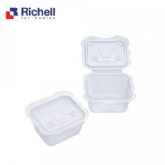 Bộ Hộp Trữ Thức Ăn Dặm Richell (10 Hộp -50ML) RC98106 – Chất Liệu Nhựa PP Cao Cấp, Không Chứa BPA An Toàn Cho Bé