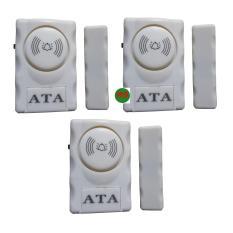 Bộ 3 chuông cửa từ dán cửa báo động chống trộm ATA AT007