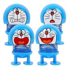 Thú nhún emoji lò xo mèo Doraemon biểu cảm nhiều gương mặt (mẫu ngẫu nhiên)