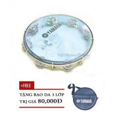Trống lắc tay – trống gõ bo – Tambourine Yamaha MT6-102B (Xanh Trong) + Bao da 3 lớp – HappyLive Shop