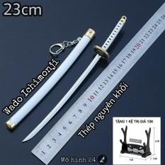 [22.5cm] Mô hình móc khóa Kiếm Ichadoji Wado Ichimonji của Roronoa Zoro katana Wano quốc Wazamono huyền thoại one piece