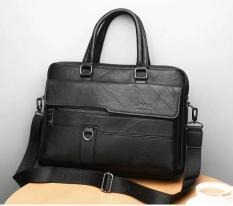 Túi xách cặp da đựng laptop 14inch JEEP BULUO T20 39x28x6cm (Nâu đậm – Nâu sáng – Đen)