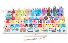 Bảng học đa năng 6 trong 1 – rèn luyện chữ và số đếm